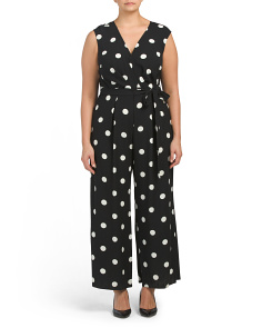Plus Polka Dot Jumpsuit