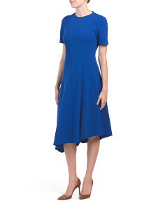 Short Sleeve Asymmetrical Hem Dress