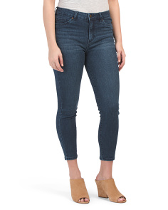 Petite High Waist Muffin Cover Ankle Jeans