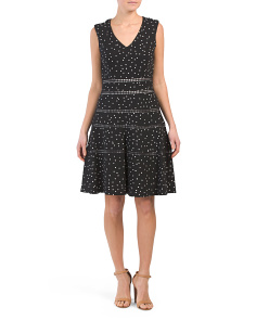 Polka Dot Flounce Hem Dress