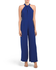 Twist Neck Halter Jumpsuit