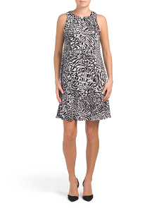 Gwen Abstract Cheetah Dress