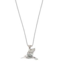Made In Bali Sterling Silver Large Hummingbird Necklace