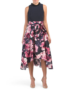 Hi-lo Floral Party Dress
