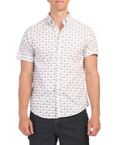 Short Sleeve Bike Print Shirt