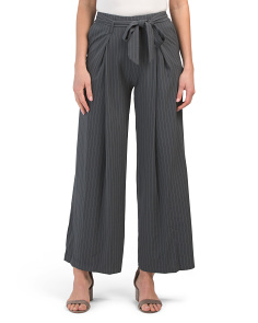 Juniors Tie Waist Wide Leg Pants