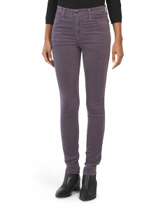 Maria Velvet High Rise Skinny Pants