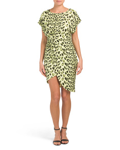 Juniors Animal Midi Dress