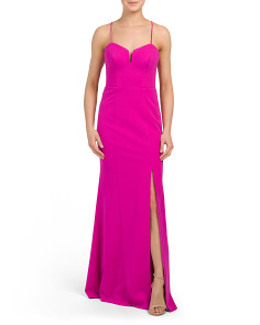Morganite Bustier Crepe Gown