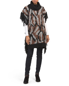 Turtleneck Tunic With Fringe