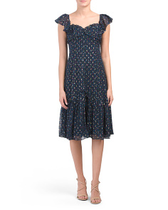 Sparkle Dot Silk Blend Dress