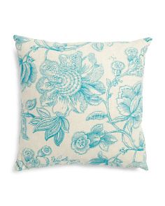 Made In Usa 22x22 Elegant Floral Pillow