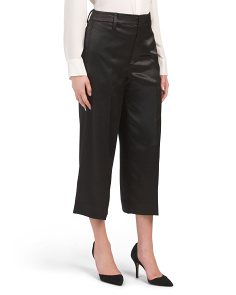 Metallic Cropped Wide Leg Pants
