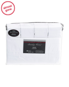 6pc 600tc Cotton Rich Sheet Set