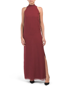Silk Clean Halter Maxi Dress