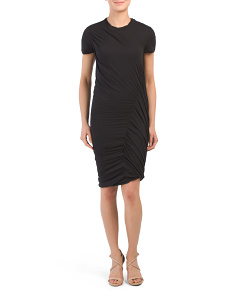 Pima Cotton Drape Twist Dress