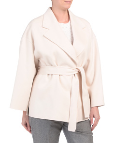 Wool Blend New Robe Jacket