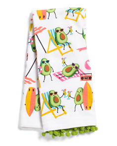 2pk Avocado Beach Bums Kitchen Towels