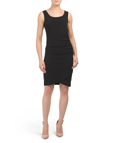 Tank Crossover Hem Dress With Side Ruching