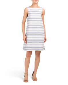 Alina Striped Linen Blend Dress