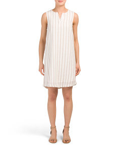 Jaylene Striped Linen Blend Dress