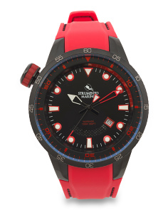 Men's Designed In Italy Warrior Silicone Strap Watch