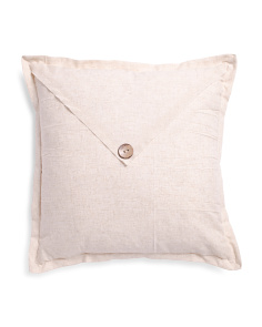 22x22 Linen Look Envelope Button Pillow