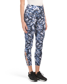 High Rise Ankle Length Printed Leggings