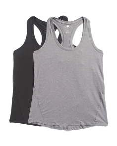 2pk Designed Racer Back Tank Top