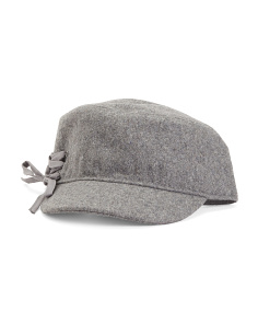 Cadet Hat With Side Lace Detail