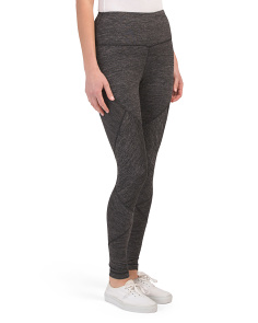 High Waist Leggings With Seam Details
