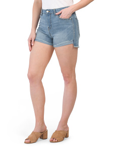 Juniors High Waist Denim Shorts