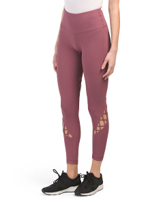 Side Strap High Waist Ankle Leggings