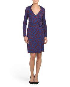 New Jeanne Two Silk Blend Wrap Dress