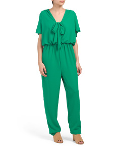 Made In Usa Tie Front Jumpsuit