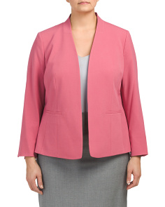 Plus Stretch Kiss Front Blazer