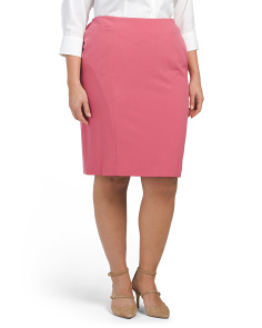 Plus Stretch Pencil Skirt