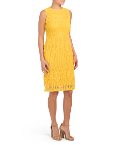 Petite Lace Sheath Dress