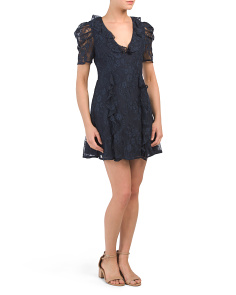 Hold On Puff Shoulder Lace Dress