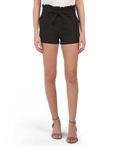 Juniors Paperbag Waist Shorts