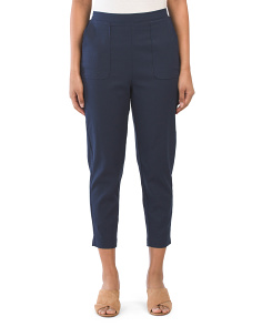 Juniors Linen Blend Skinny Pants