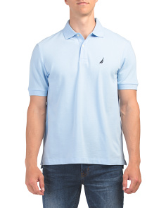 Short Sleeve Cotton Pique Polo
