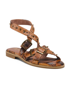 Snake Ankle Wrap Sandals