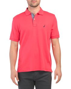 Short Sleeve Tipped Interlock Top
