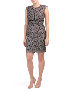 Petite All Over Lace Embroidered Dress