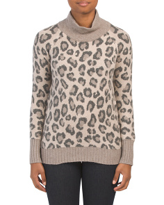 Leopard Mock Neck Sweater