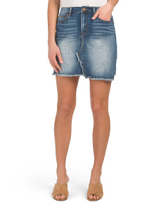 Juniors Trixxi Denim Skirt