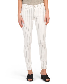 Juniors Pinstripe Denim Jeans