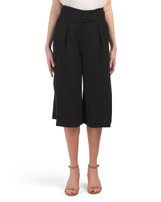Belted Culotte Pants