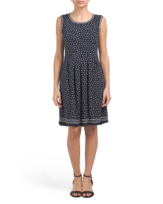 Sleeveless Mini Dot Dress